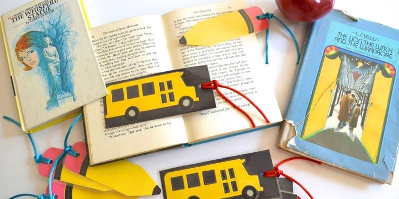 Bookmark – Back to School Bus & Pencil Bookmarks Tutorial