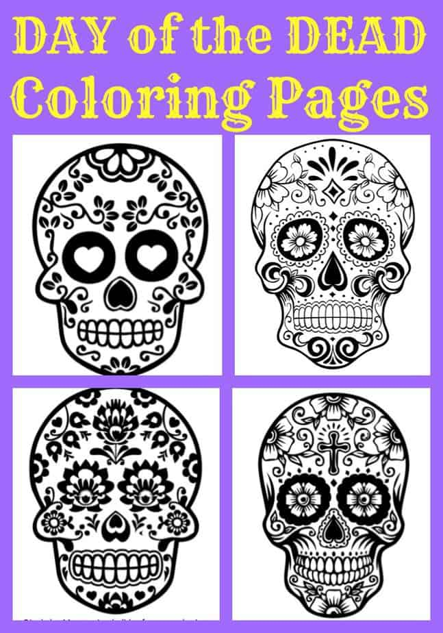 - Day Of The Dead Coloring Pages For Kids - GREAT For 3D Activities!