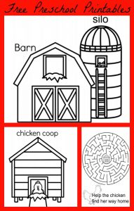 Preschool Farm Printable Mini eBook
