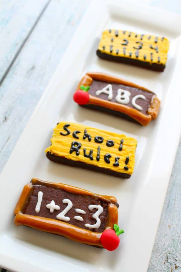 back to school brownies themed