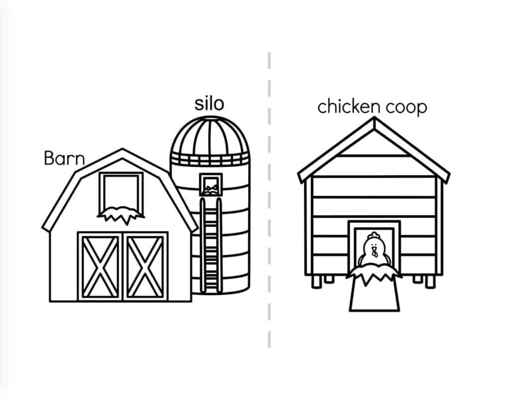 Preschool Farm Coloring Pages And Activities Printable Book