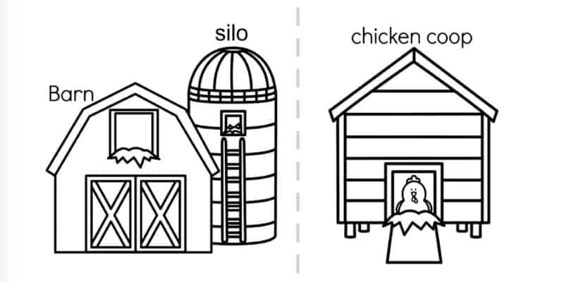 preschool farm coloring book