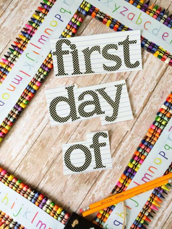 First Day of School DIY Picture Frame Photo Prop Tutorial