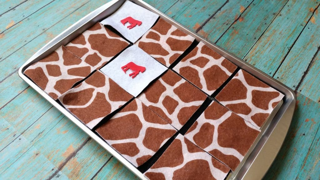 DIY Preschool Animal Memory Match Sensory Game