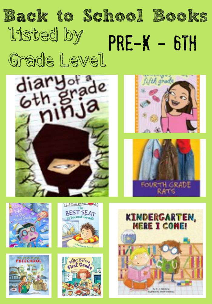 Back to School Books by grade level