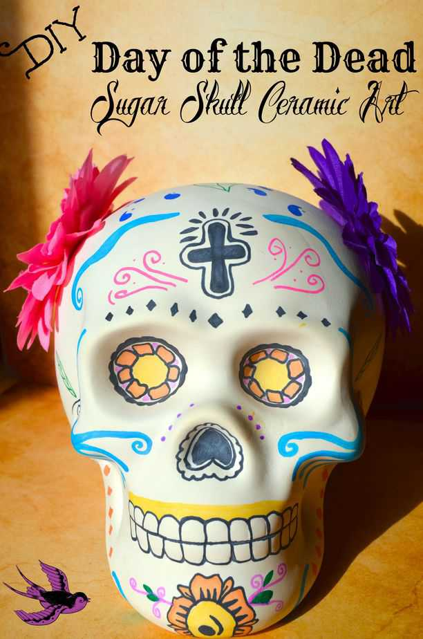 DIY Day Of The Dead Sugar Skull Ceramic Art Decor