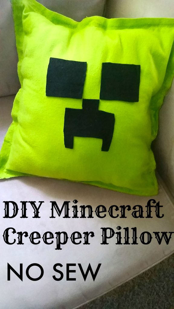DIY Minecraft Creeper Pillow Tutorial