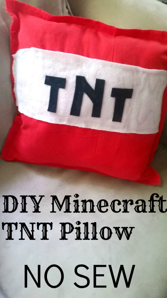 DIY Minecraft TNT Pillow Tutorial