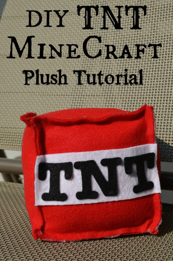 DIY Minecraft TNT Bomb Plush Toy Tutorial