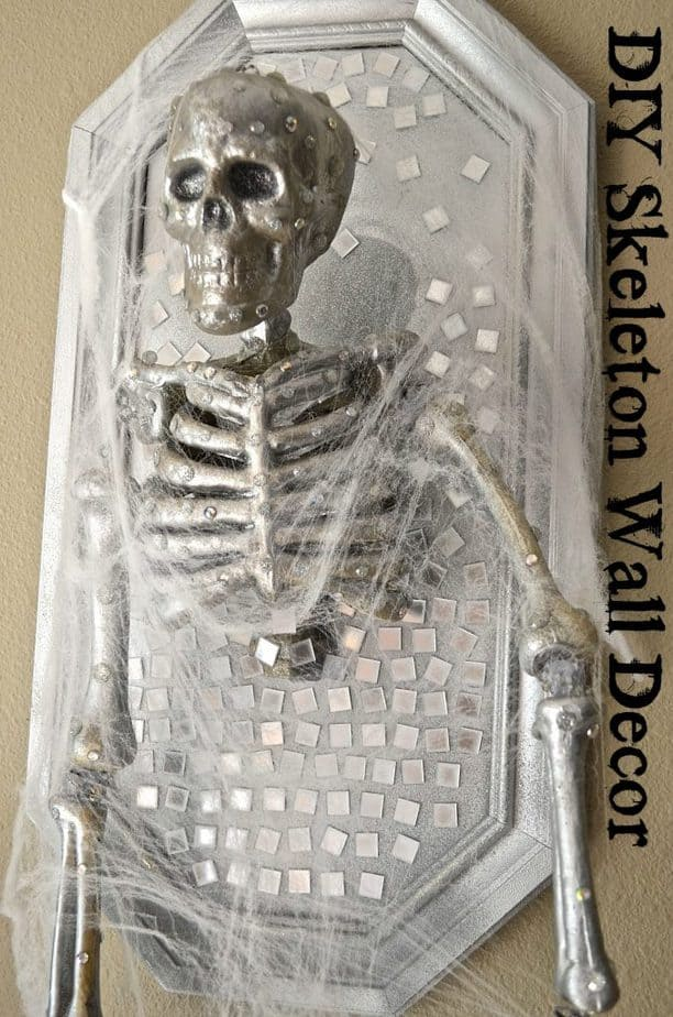 DIY Skeleton Wall Decor Halloween Prop