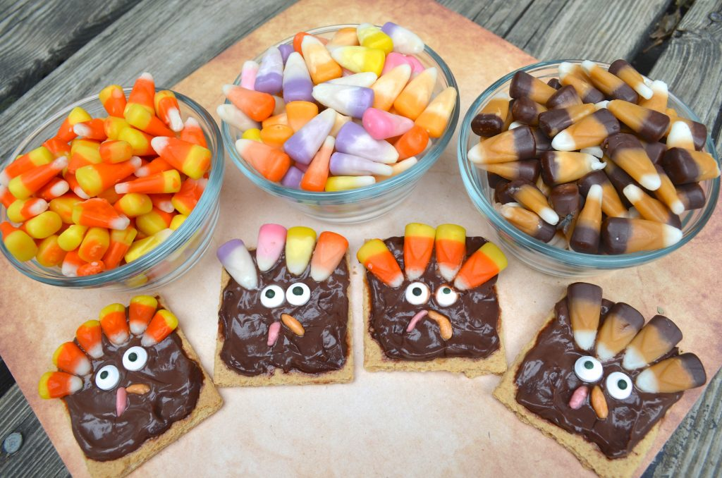 Candy Corn Thanksgiving Turkey Snack for Kids