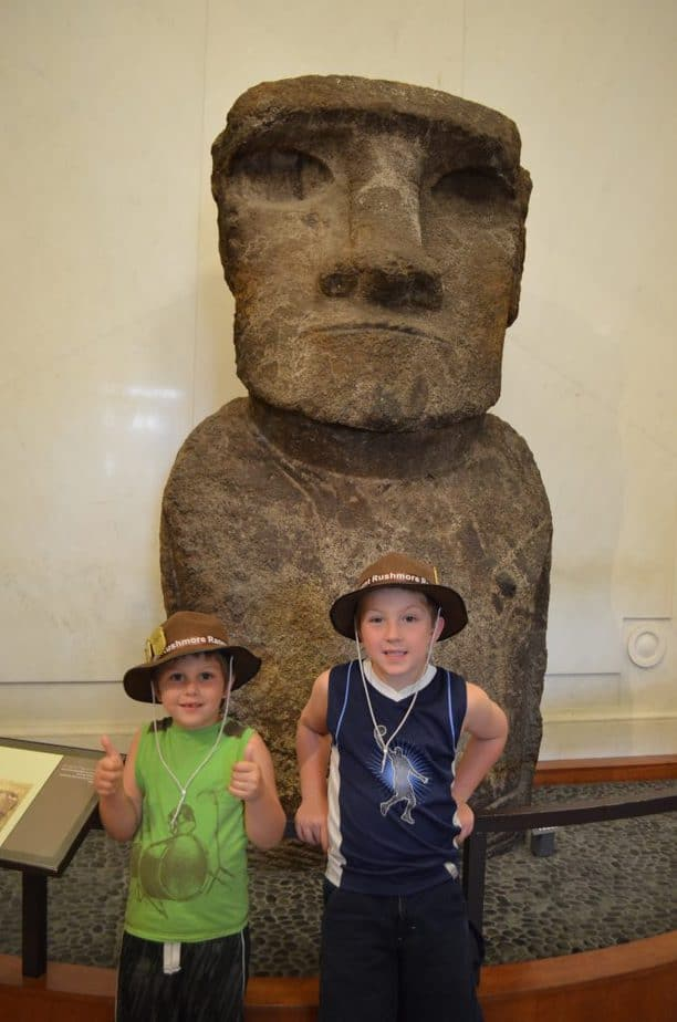 Easter Island Statues at Smithsonian Natural History Museum in Washington, DC