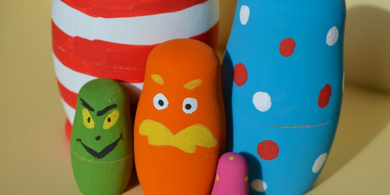 DIY Dr Seuss inspired Nesting Dolls