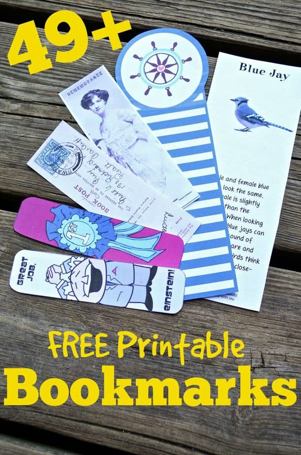 FREE Printable Bookmarks Back to School Reading