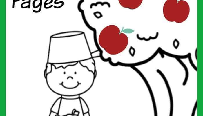Johnny Appleseed Coloring Pages + Apple Themed Activities