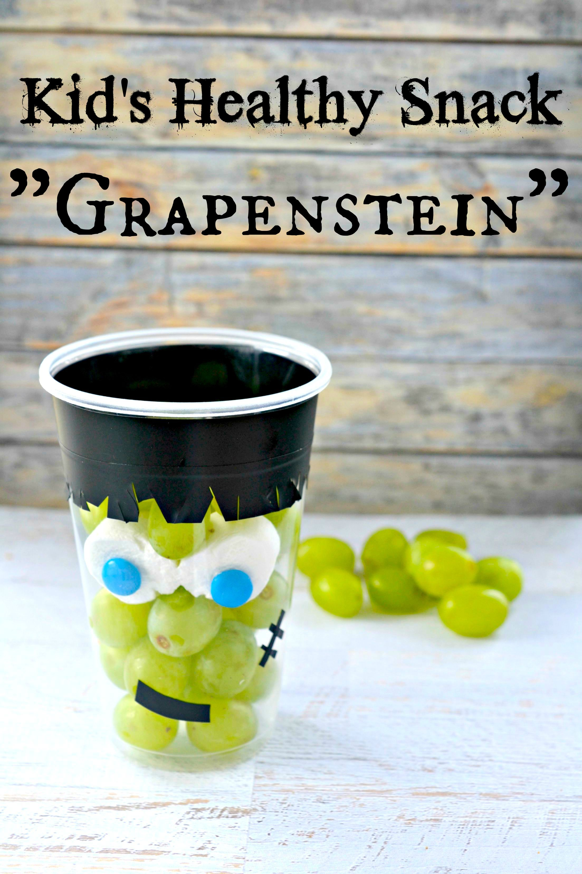 Kid's Healthy Halloween Snack Grape Cup