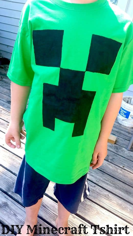 Minecraft Creeper tshirt Tutorial