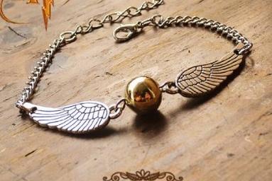 Harry Potter Golden Snitch Quidditch Bracelet