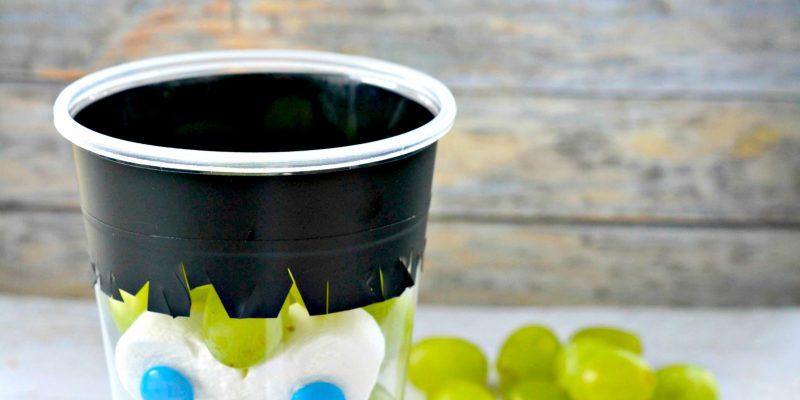 Kid's Healthy Halloween Snack Grape Cup