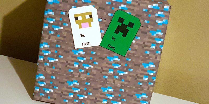 FREE Minecraft Printable Gift Tags – Creeper & Sheep