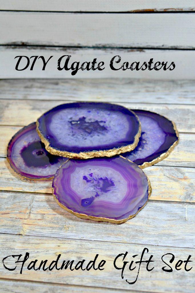 DIY Agate Coasters Handmade Gift Set
