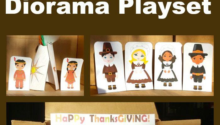 Free Thanksgiving Printable Diorama Playset