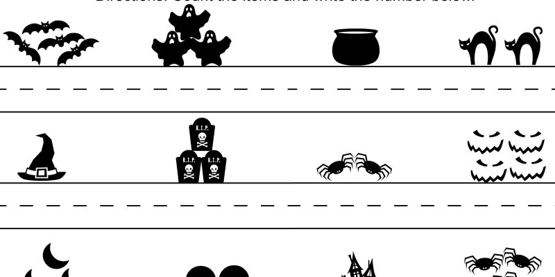 Halloween Counting Fun Math Worksheet