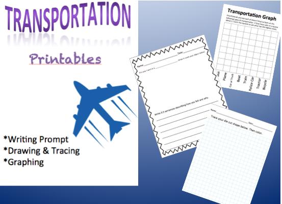 Transportation Printable set