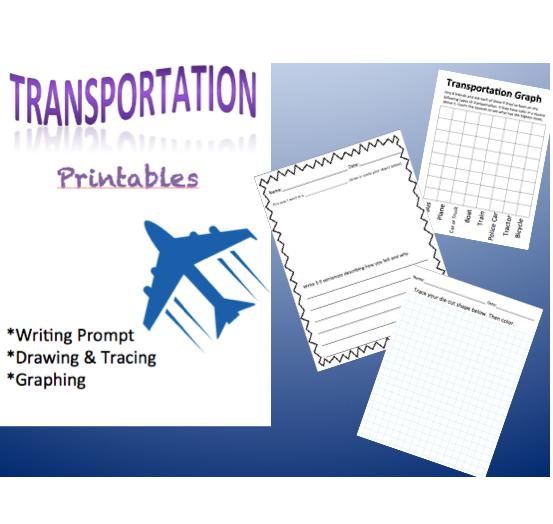free transportation writing center printable worksheets. Black Bedroom Furniture Sets. Home Design Ideas