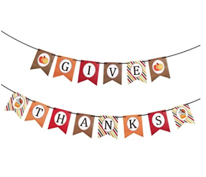 Thanksgiving Give Thanks Banner Party