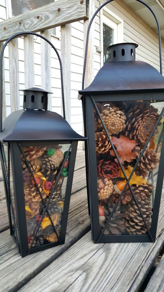 Easy Pinecone Lantern Festive Holiday Home Decor Idea