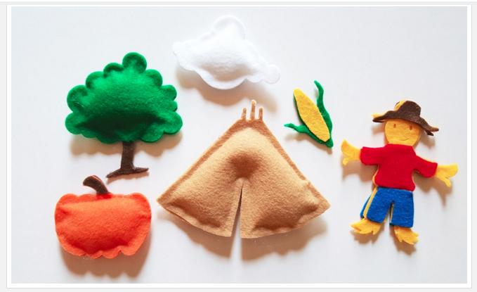 DIY Fall Felt Toys Pretend Play