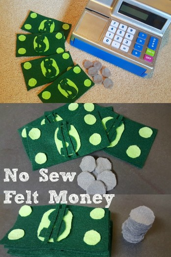 No Sew Felt Money Pretend Play