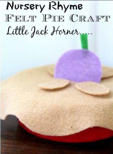 No Sew Felt Pie - Nursery Rhyme Craft
