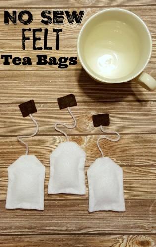 No Sew Felt Tea Bags