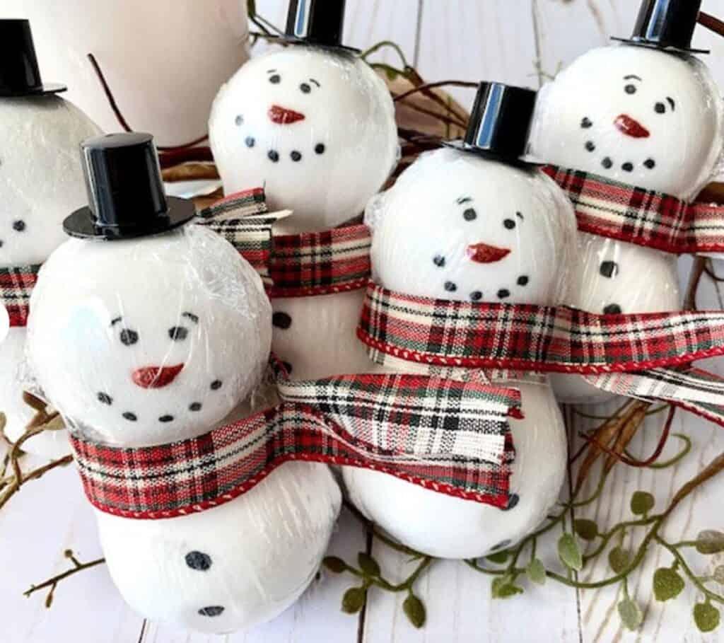 snowman bath gift