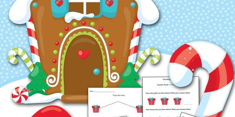 FREE Gingerbread Preschool Printable Worksheet Set