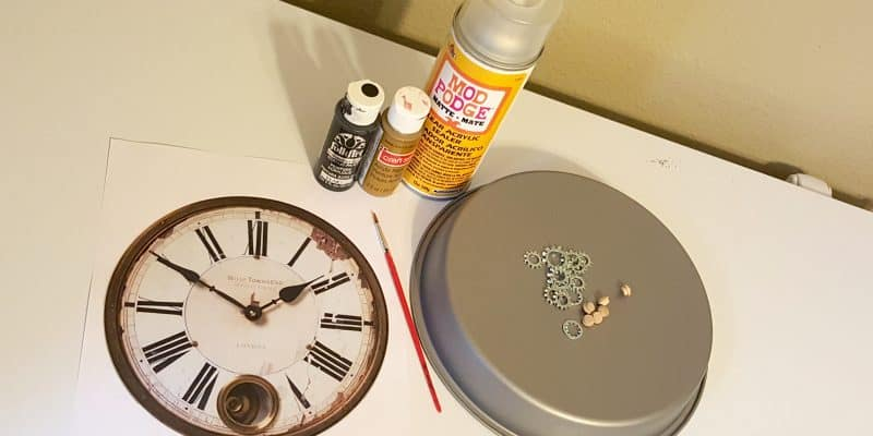 DIY Vintage Steampunk Wall Decor