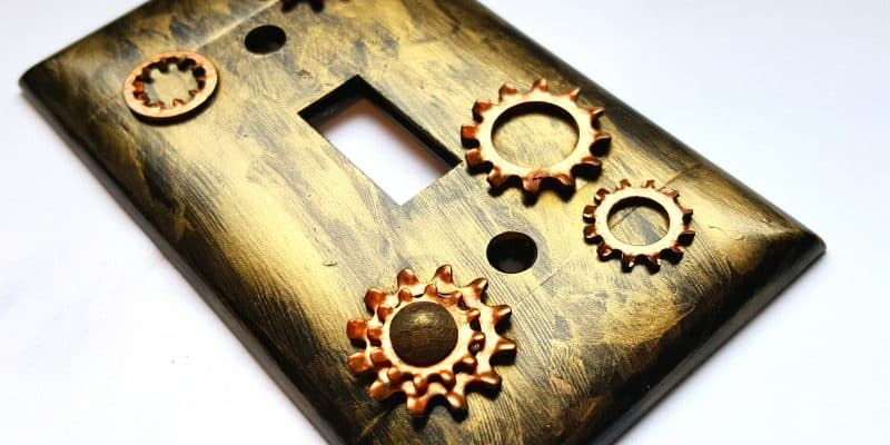Industrial Steampunk DIY Light Switch Plate Cover