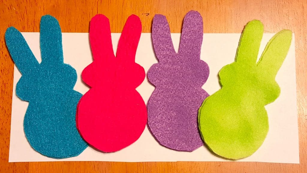 Easter Bunny Felt Toys with Printable Template