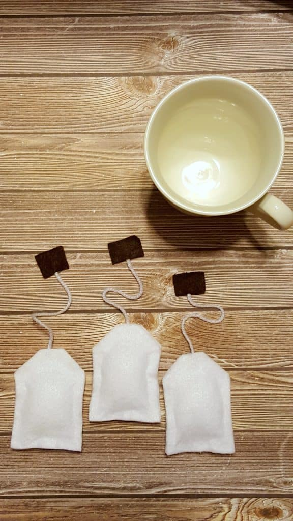 NO Sew Felt Tea Bags Kids Pretend Play