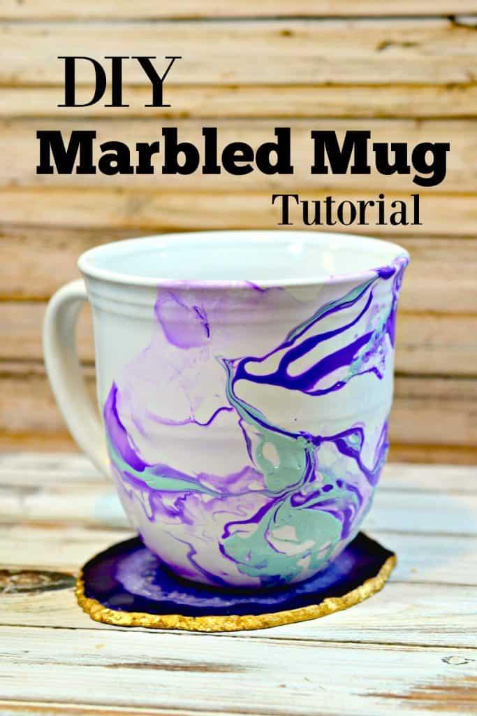 DIY Marble Mugs Tutorial - Handmade Gift