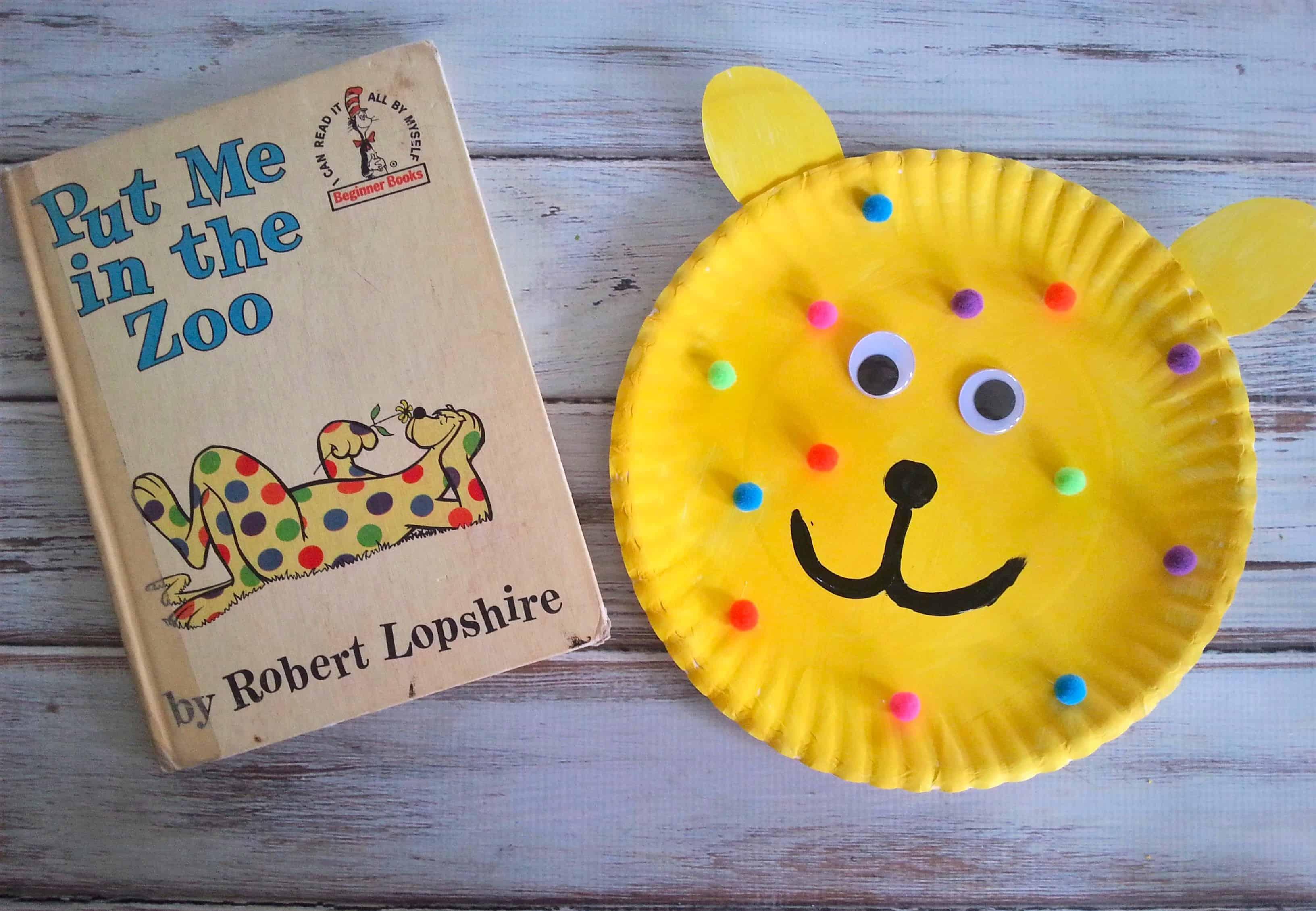 & Put Me in the Zoo Paper Plate Childrenu0027s Book Craft