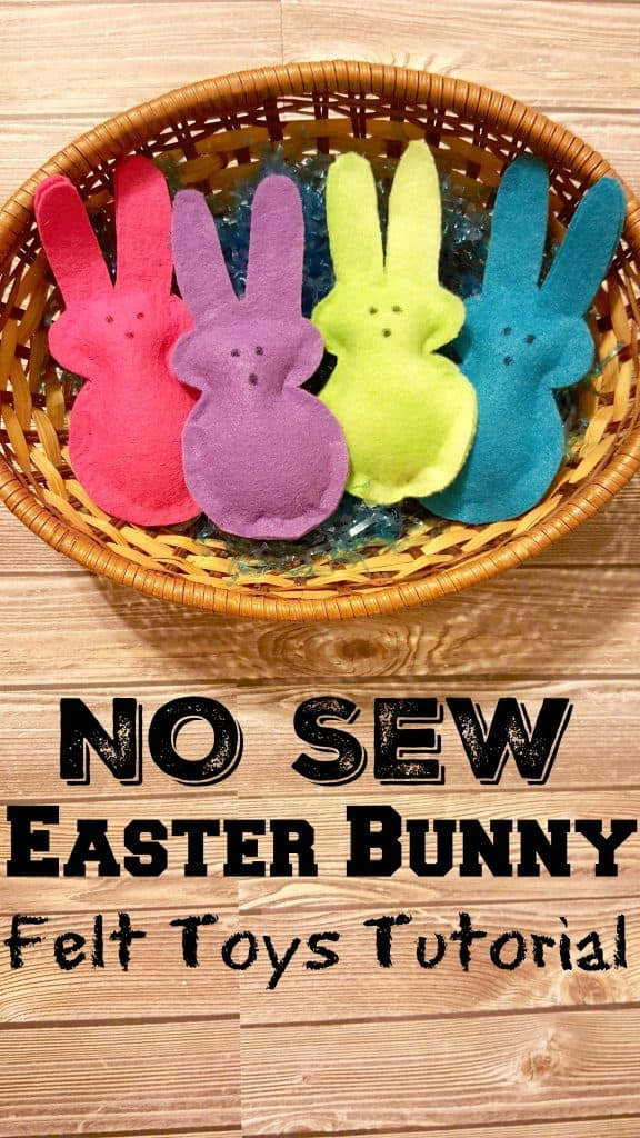 NO SEW Easter Bunny Felt Toys Tutorial