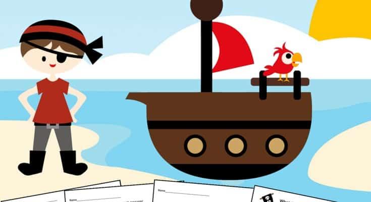 Pirate Printable Preschool Worksheet Set