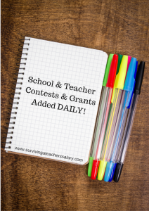 School and Teacher Contests and Grants Added Daily