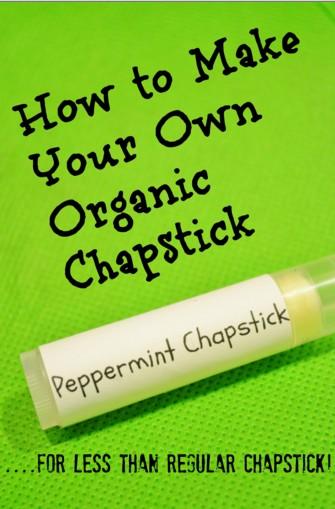 DIY Homemade Organic Chapstick Recipe