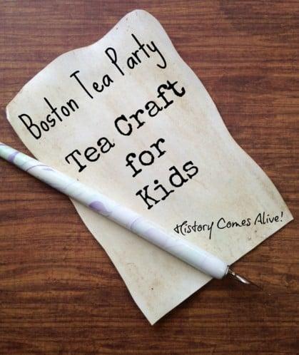 Boston Tea Party Tea Paper Craft for Kids