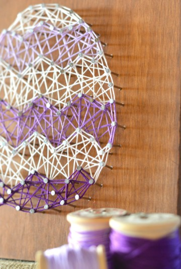 DIY Easter Egg String Art with Template