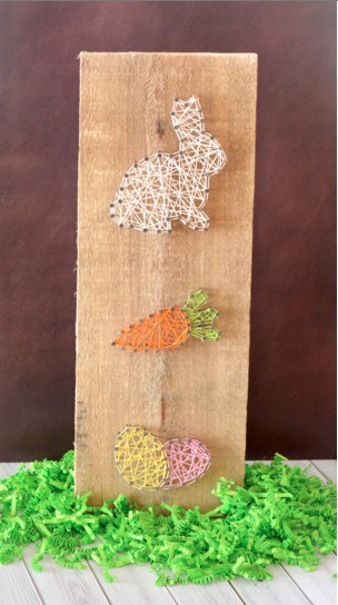 DIY Easter Bunny String Art with Template
